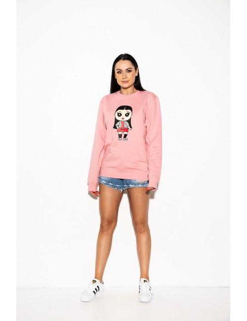 Rožinis lėlytės džemperis